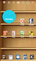 Screenshot of Bookshelf Launcher Theme