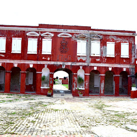 Fort Frederick by Liz Rosas - Buildings & Architecture Public & Historical ( fort frederick, arch, arches, st. croix, danish, archway, fredericksted, virgin islands, west indies, island )
