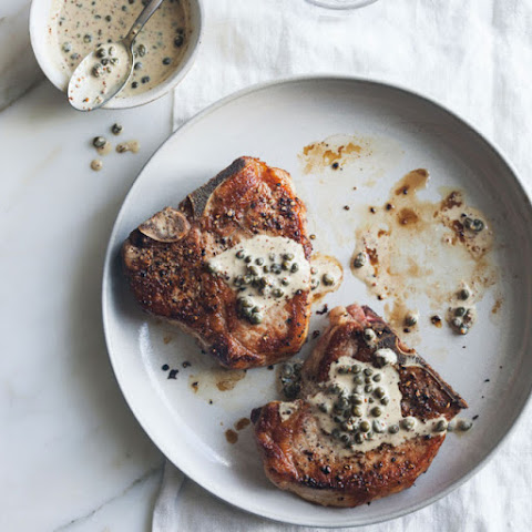 Pork Chops with Mustard and Caper Pan Sauce