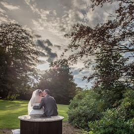 time doesn't exist. only love by Marek Kuzlik - Wedding Bride & Groom ( ideas for wedding photos, unusual wedding photos, wedding outdoorphotography, coventry wedding photography, creative wedding photos )