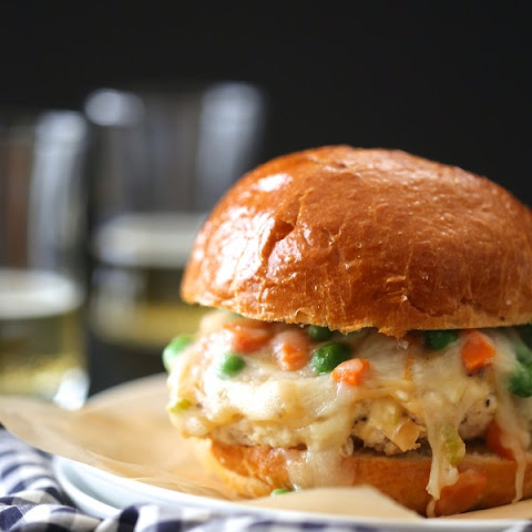 Chicken Pot Pie Burger