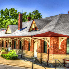 Old Train station by Jackie Eatinger - Buildings & Architecture Public & Historical