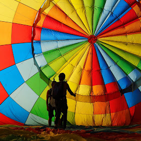 inside the envelope by Geoff Soper - Abstract Patterns ( #balloon #skydiving #colour #silhoutte #hotairballon #ballooningcanterbury #sunset #colourspectrum #colorspectrum #colour,  )
