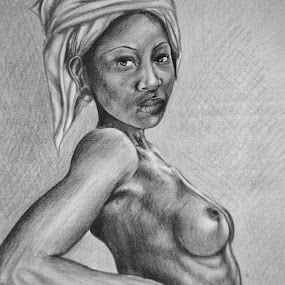 Black Beauty by David Van der Smissen - Drawing All Drawing ( nude, mooi, women, black, drawing )