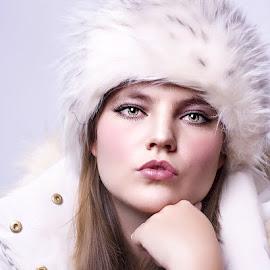 Winters Tale by Traci Rautenbach - People Portraits of Women ( jacket, beautiful, fur, women, young )