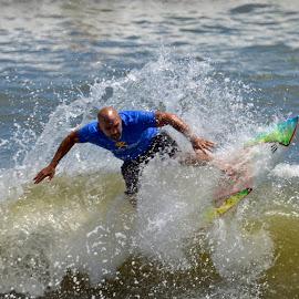 Surfing by Bill Telkamp - Sports & Fitness Surfing ( surfing, waves, summer, ocean, beach )