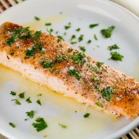 Baked Salmon with Cajun Lemon Butter