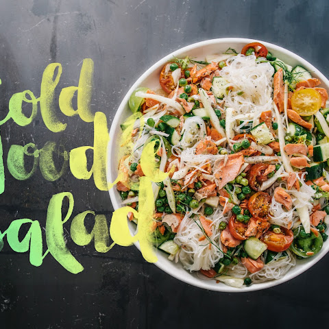 Summery Salmon Cold Noodle Salad