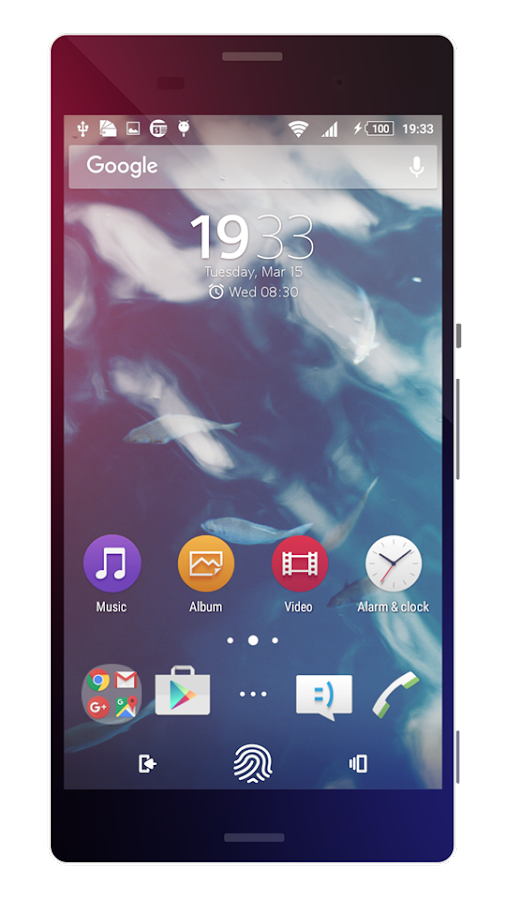 Touch | Theme for Sony Xperia Screenshot