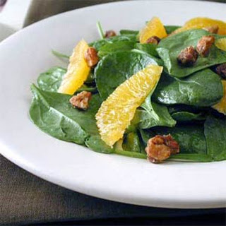 Baby Spinach Salad with Candied Hazelnuts