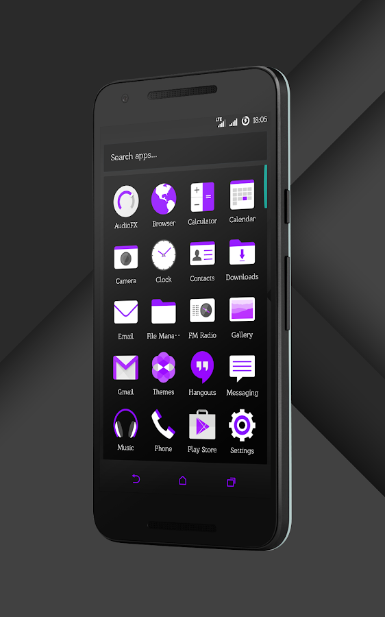 Sense Black/Purple cm13 theme Screenshot 15