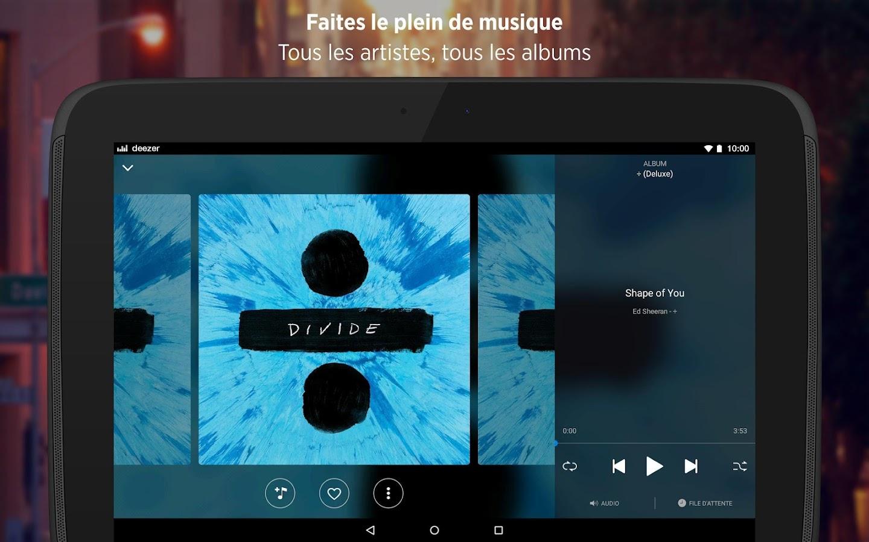 deezer musique mp3 et vos chansons en streaming applications android sur google play. Black Bedroom Furniture Sets. Home Design Ideas