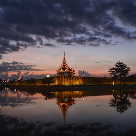 Cloudy Morning  by Lin Shall - Landscapes Sunsets & Sunrises ( #myanmar, #mandalay, #cloudy, #winter-morning, #sunrise )