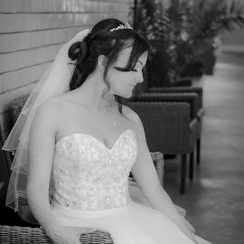 Memories by Vix Paine - Wedding Bride ( thoughts, blackandwhite, dress, wedding, beautiful, marriage, bride )