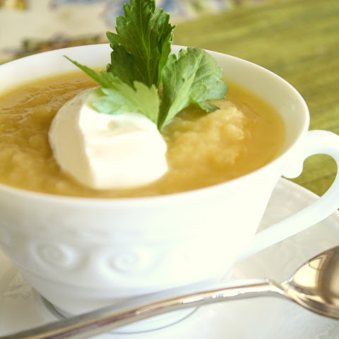 Silky Leek and Celery Root Soup