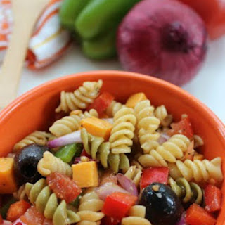 Pasta Salad with Balsamic Vinaigrette Dressing