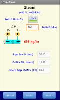 Screenshot of Orifice Flow