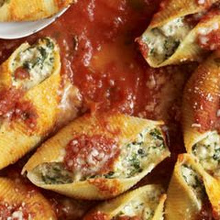 Sausage, Spinach, and Cheese Stuffed Shells