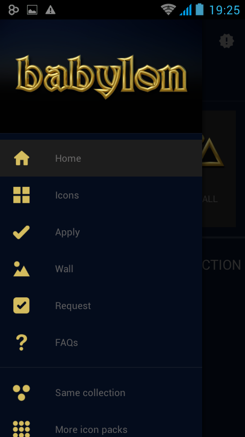 Babylon gold blue ICON PACK Screenshot 2