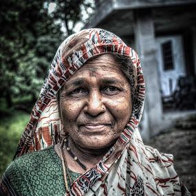 My Grandma by Mangesh Jadhav - People Portraits of Women