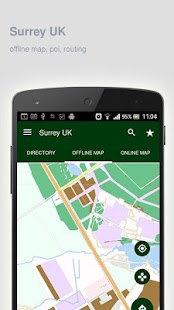Surrey UK Map offline - screenshot