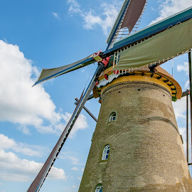 Kinderdijk Windmill by Ed Mullins - Buildings & Architecture Public & Historical ( dutch, windmills, kinderdijk, windmill, amsterdam, unesco, netherlands, world heritage site )