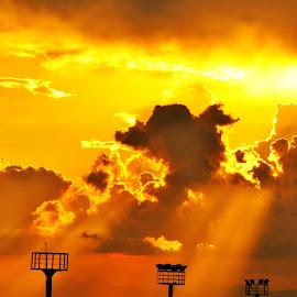 Golden Rays by Helton Balairos - Landscapes Sunsets & Sunrises
