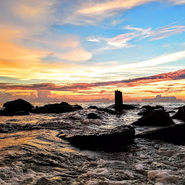 Sunset along Reddington Beach by Jeffrey Lee - Landscapes Sunsets & Sunrises ( sunset along reddington beach )