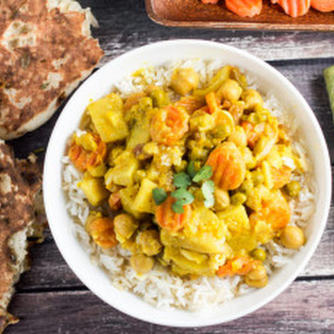 Slow Cooker Thai Yellow Curry (Vegan)