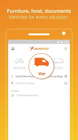 Lalamove: Fast & Reliable Delivery App Screenshot
