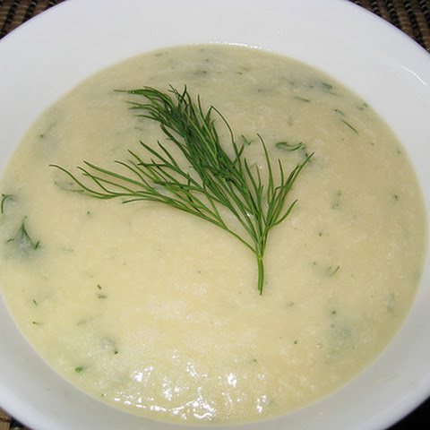 Roasted Cauliflower Soup With Dill Whipped Cream Recipe — Dishmaps