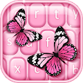 Pink Butterfly Keyboard APK for Bluestacks