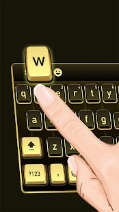 App Golden Black Cheetah Keyboard APK for Windows Phone