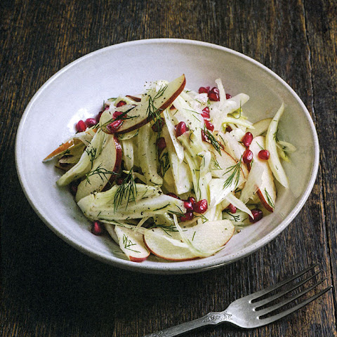 Fennel & Apple Salad with Dill & Pomegranate Seeds