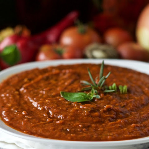 Roasted Slow Cooker Tomato Sauce