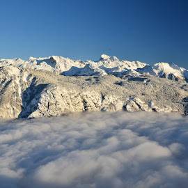 Bohinj v megli by Bojan Kolman - Landscapes Mountains & Hills (  )