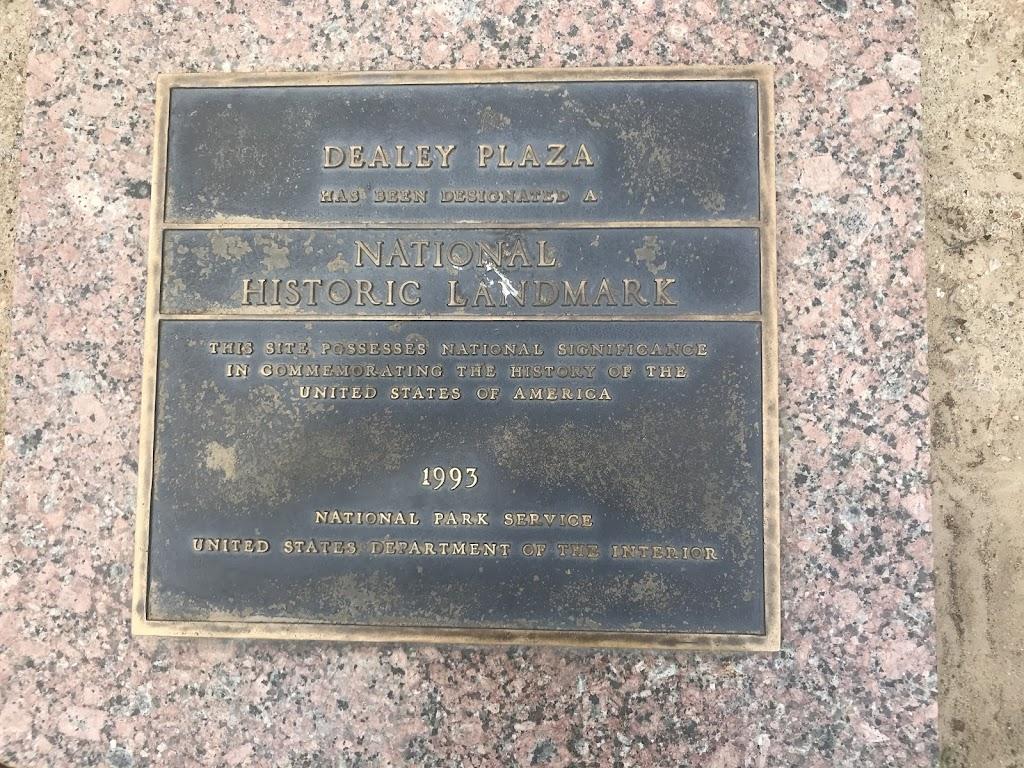 Site of the assassination of President John F. Kennedy on November 22, 1963
