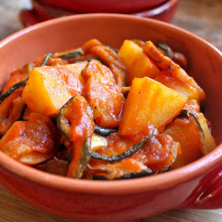 DRIED ZUCCHINI, PANCETTA & POTATOES (in Tomato Sauce)