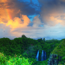 by Dan Burger - Landscapes Travel ( rainbow waterfall )