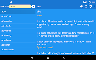 Screenshot of English Explanatory Dictionary