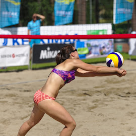 Beach volley by Simo Järvinen - Sports & Fitness Other Sports ( playing, player, female, woman, outdoor, beach volley, action, sports, summer )