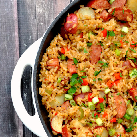 One Pan Dirty Rice Skillet