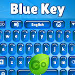 GO Keyboard Blue Key Icon