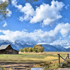 Teton Barn by Trudy Mader - Landscapes Mountains & Hills