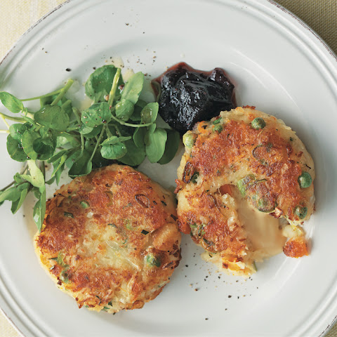 Bubble And Squeak Cakes Filled With Welsh Rarebit