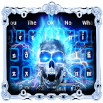 3D Fire Death Skull Keyboard Theme Icon