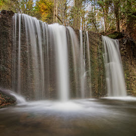 Hoggs Falls.  by Carl Chalupa - Landscapes Waterscapes ( waterfalls, waterfall, water )