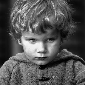 The Boy by Alan Wilson - Babies & Children Children Candids ( , black and white, b&w, child, portrait )