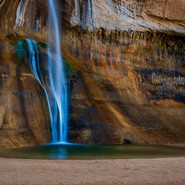 Lower Calf Creek Falls by Brent Clark - Landscapes Waterscapes ( stream, lower calf creek, waterfalls, falls, landscape )