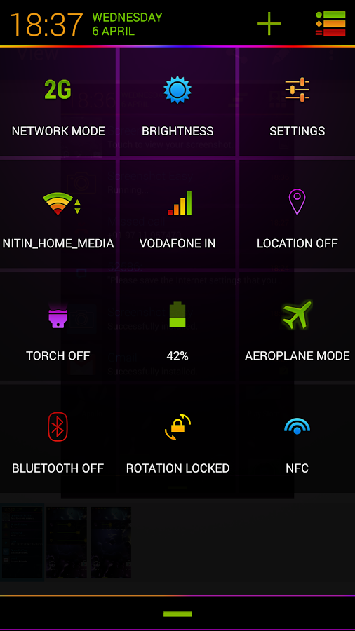 Neon Colors Theme CM11/AOKP Screenshot